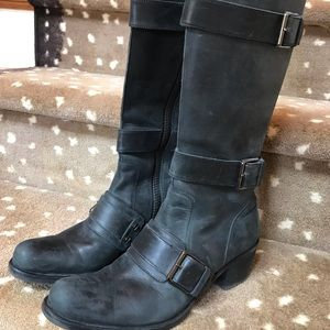 Cole Haan G Series Black Leather Boots